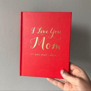 ⭐️2/$20 I Love You Mom Keepsake Memory Book